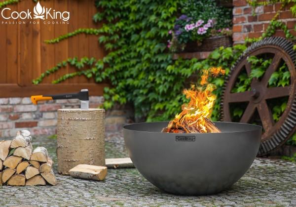 Hochwertige Gartengrill Feuerschale Ø 85cm mit Bratplatte und Grillrost